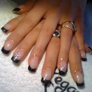 Pose En Gel French Noir Model Le Blog De Nathnails