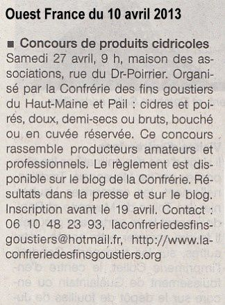 13-04-10 Ouest France