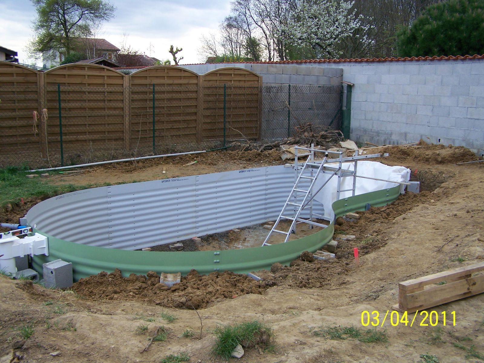 Remblai montage piscine waterair for Piscine water air