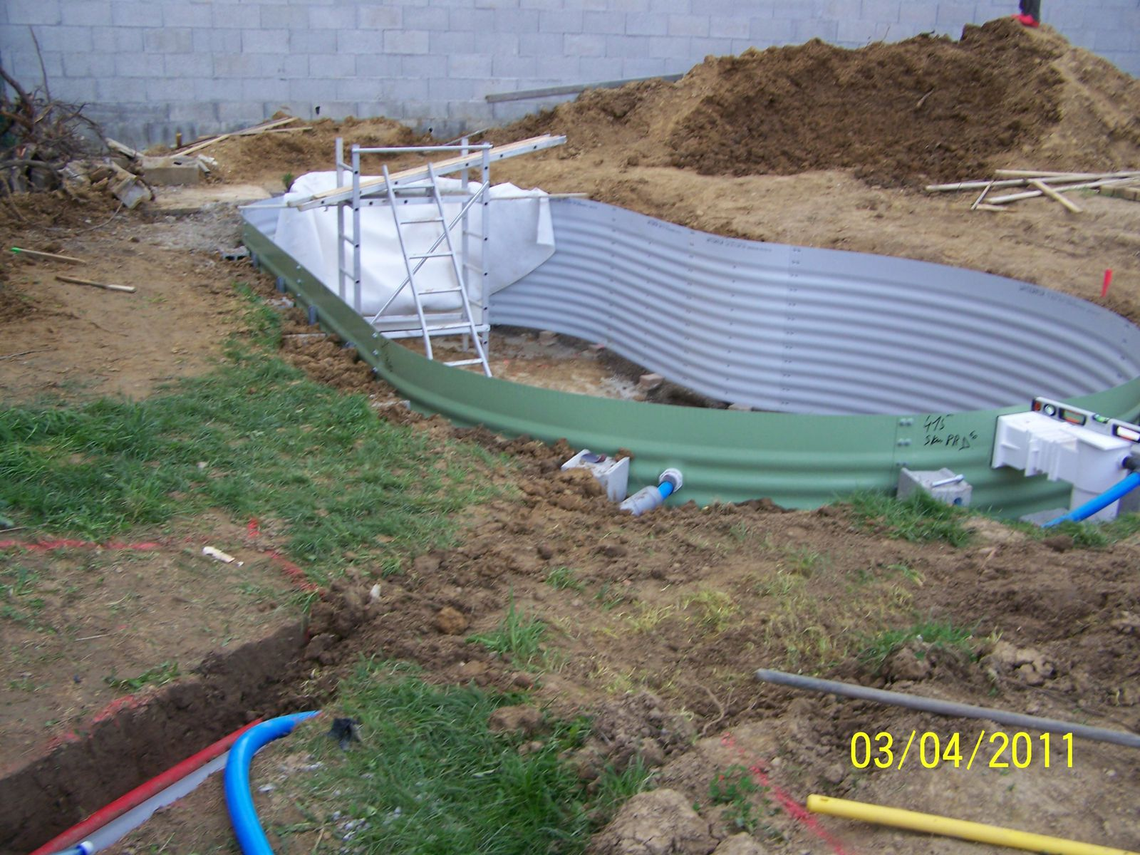 Remblai montage piscine waterair for Article piscine