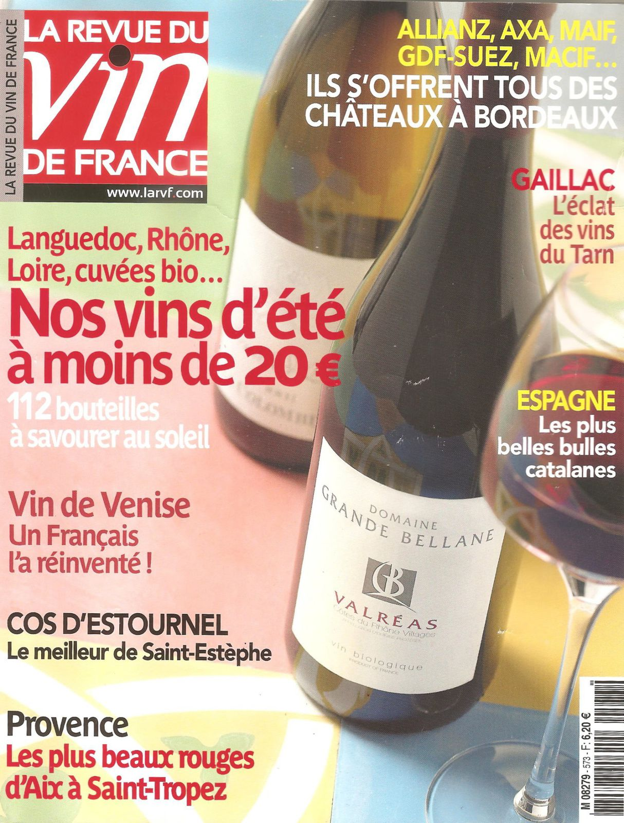 La revue des vins de france n 573 juillet ao t le blog for Revue des vins de france