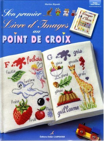 Son premier livre d images au point de croix (recto)