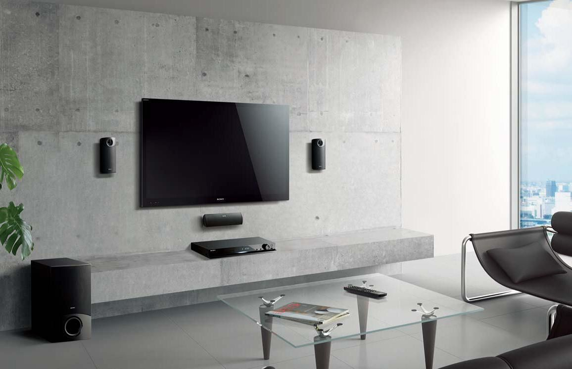 Album 19 tv accroch e au mur ou int gr e s rie 2 - Salon hifi home cinema ...