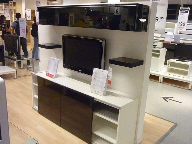 Album - 2 - IKEA réalisations en magasins autour de la télé, gamme Besta, Billy, Kallax (Expedit), Hemnes...