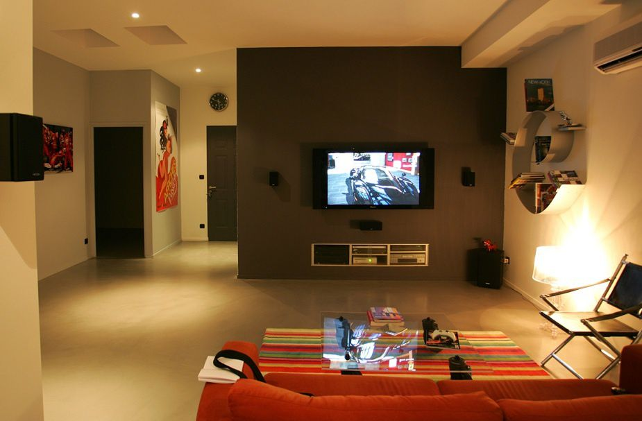 decoration mur tv. Black Bedroom Furniture Sets. Home Design Ideas