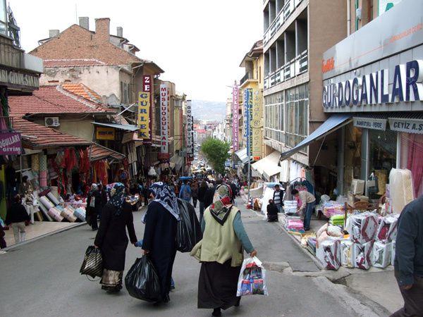 Ankara - rue commerçante