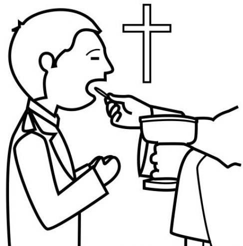 Coloriage Communion
