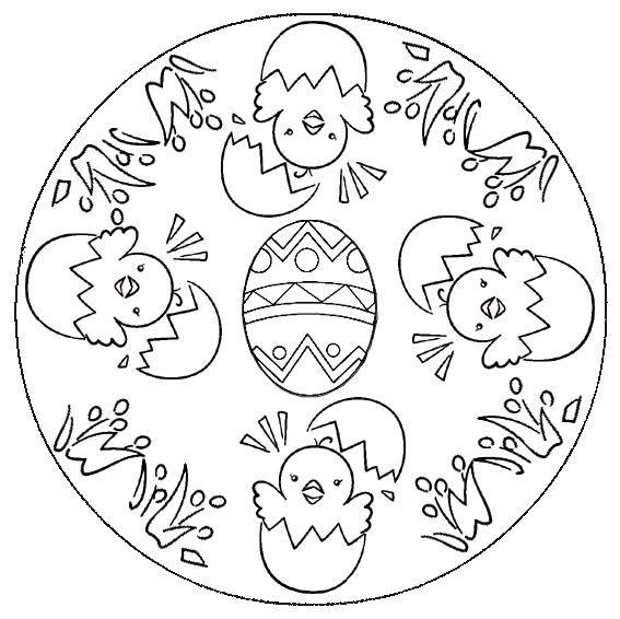 Coloriage Mandala Oeuf De Paques.Mandalas Et Jeux De Paques Le Blog De Jackie