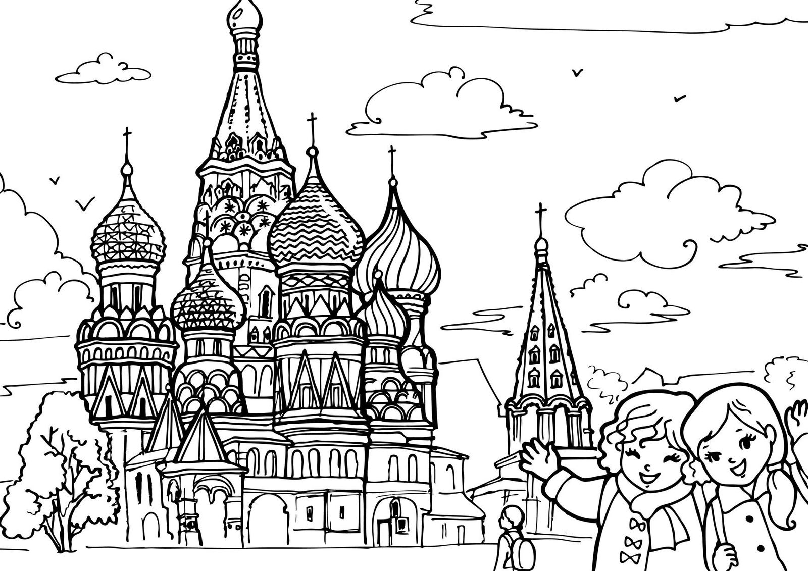 saint basils cathedral coloring pages - photo#12