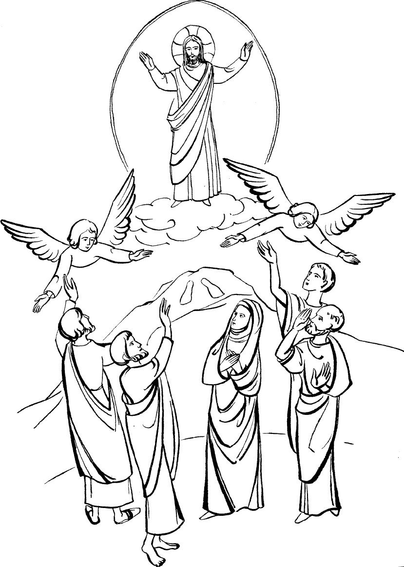 clipart of jesus ascending to heaven - photo #16