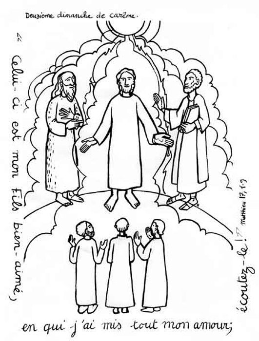 la transfiguration  coloriages