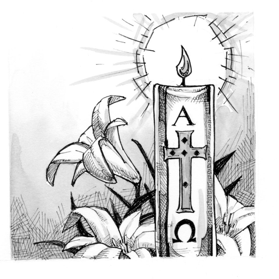 Free Paschal Candle Coloring Pages