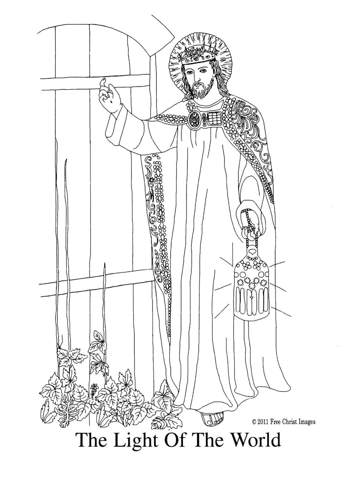 Free Coloring Pages Of Jesus Light Of The World