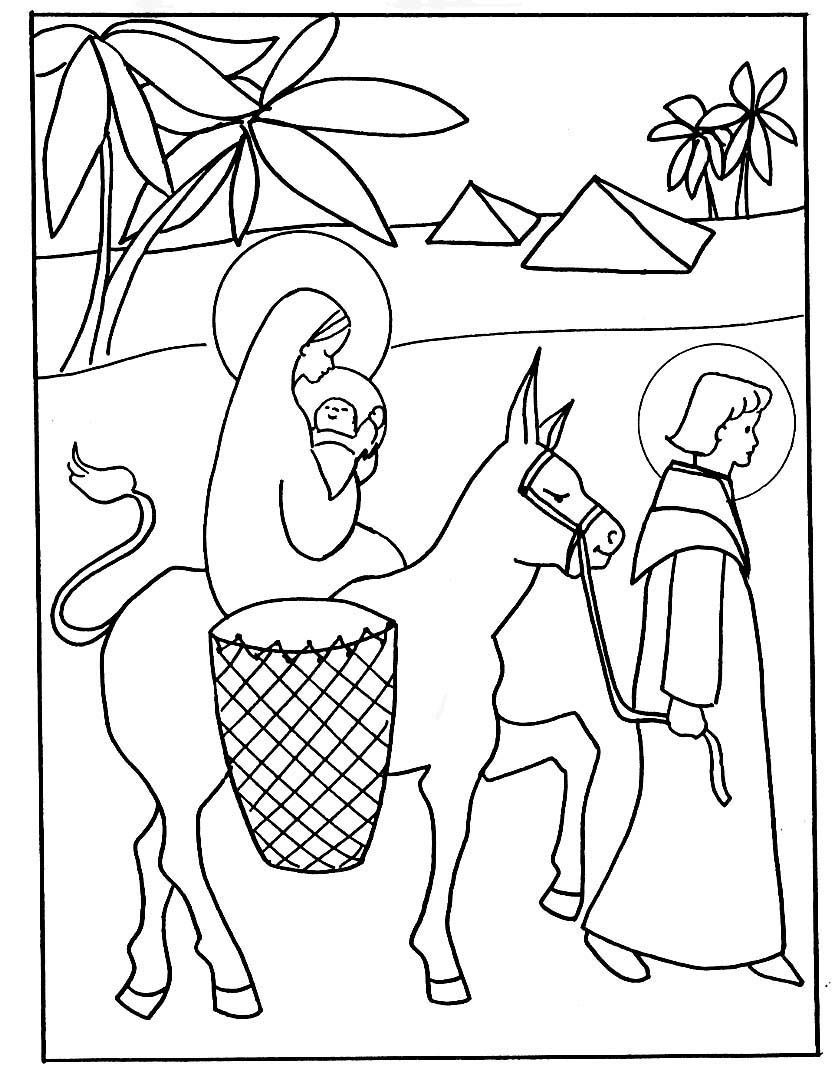 Flight into egypt coloring pages