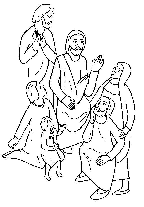 people following jesus coloring pages - photo#5