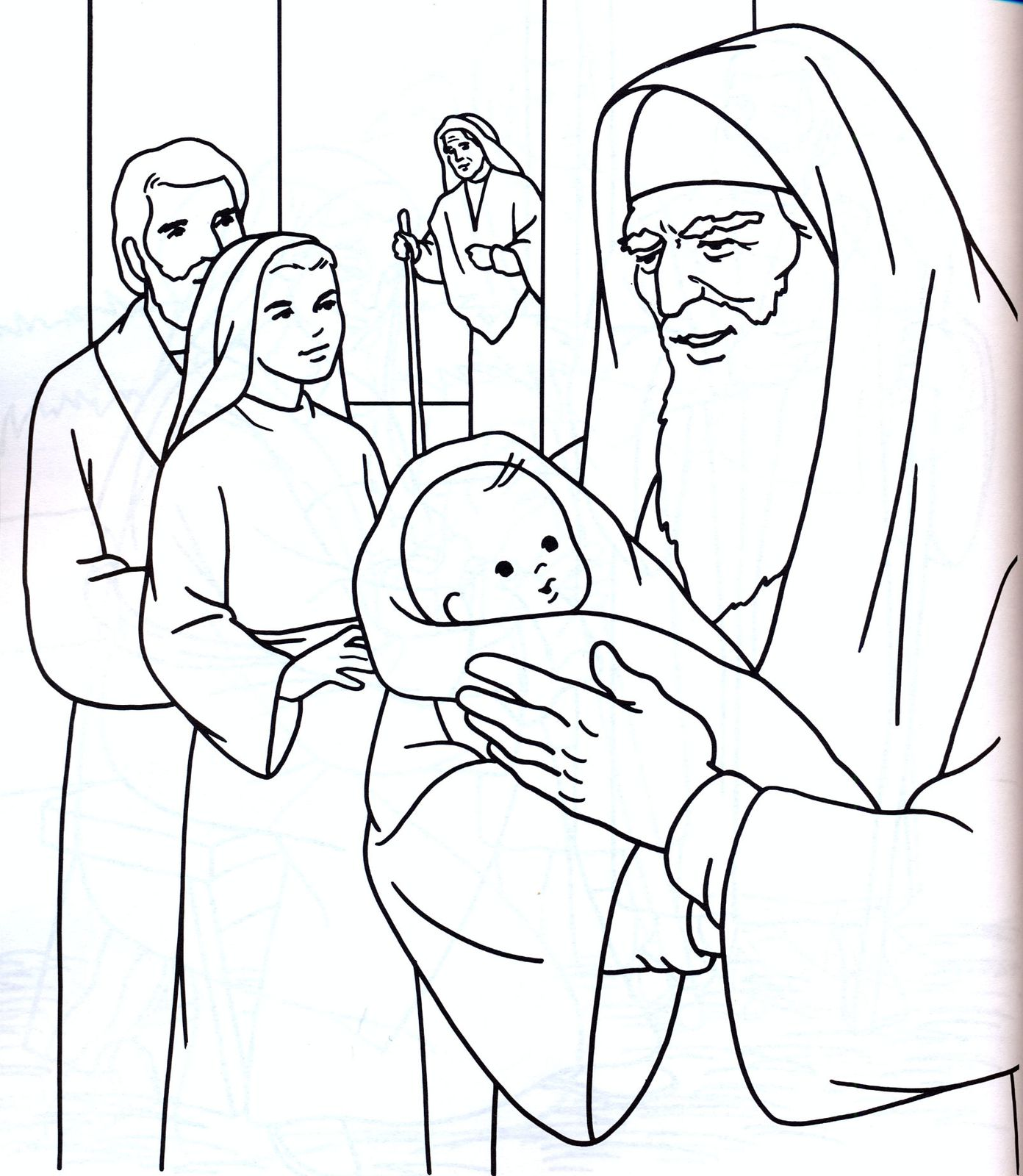 simeon and anna coloring pages - photo#19