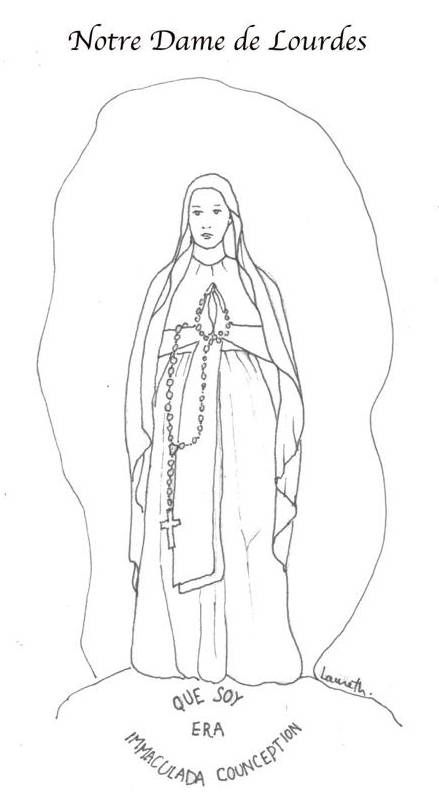 Our lady of lourdes coloring pages for Our lady of lourdes coloring page