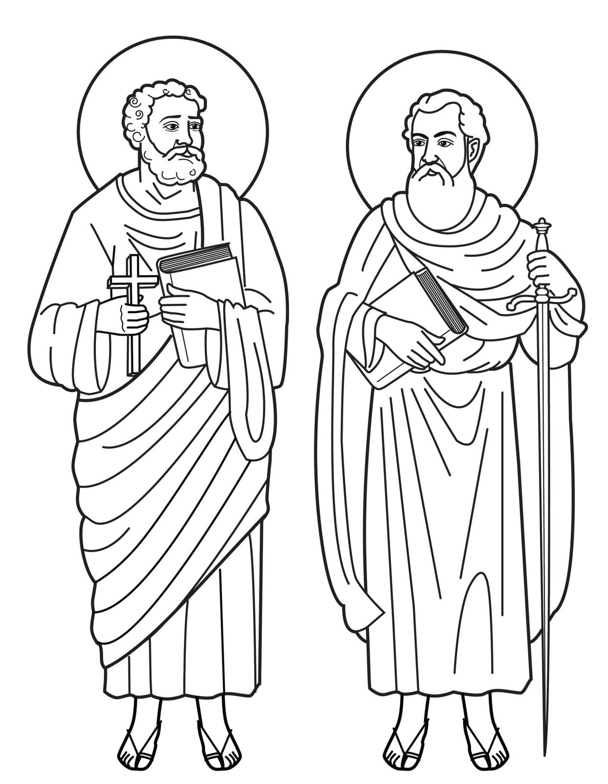 Vies coloriages de saints pierre et paul le blog de jackie - Dessin de saint ...