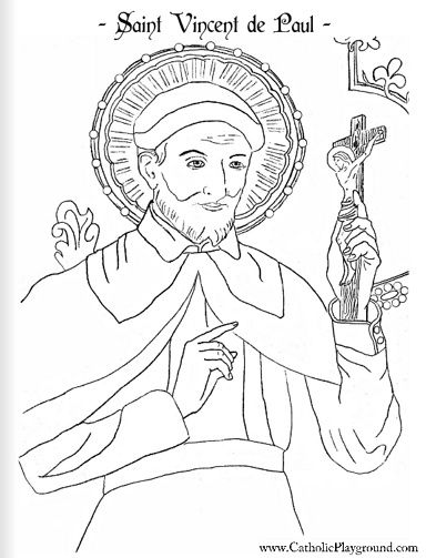 Vie Coloriages De Saint Vincent De Paul Le Blog De Jackie St Coloring Pages