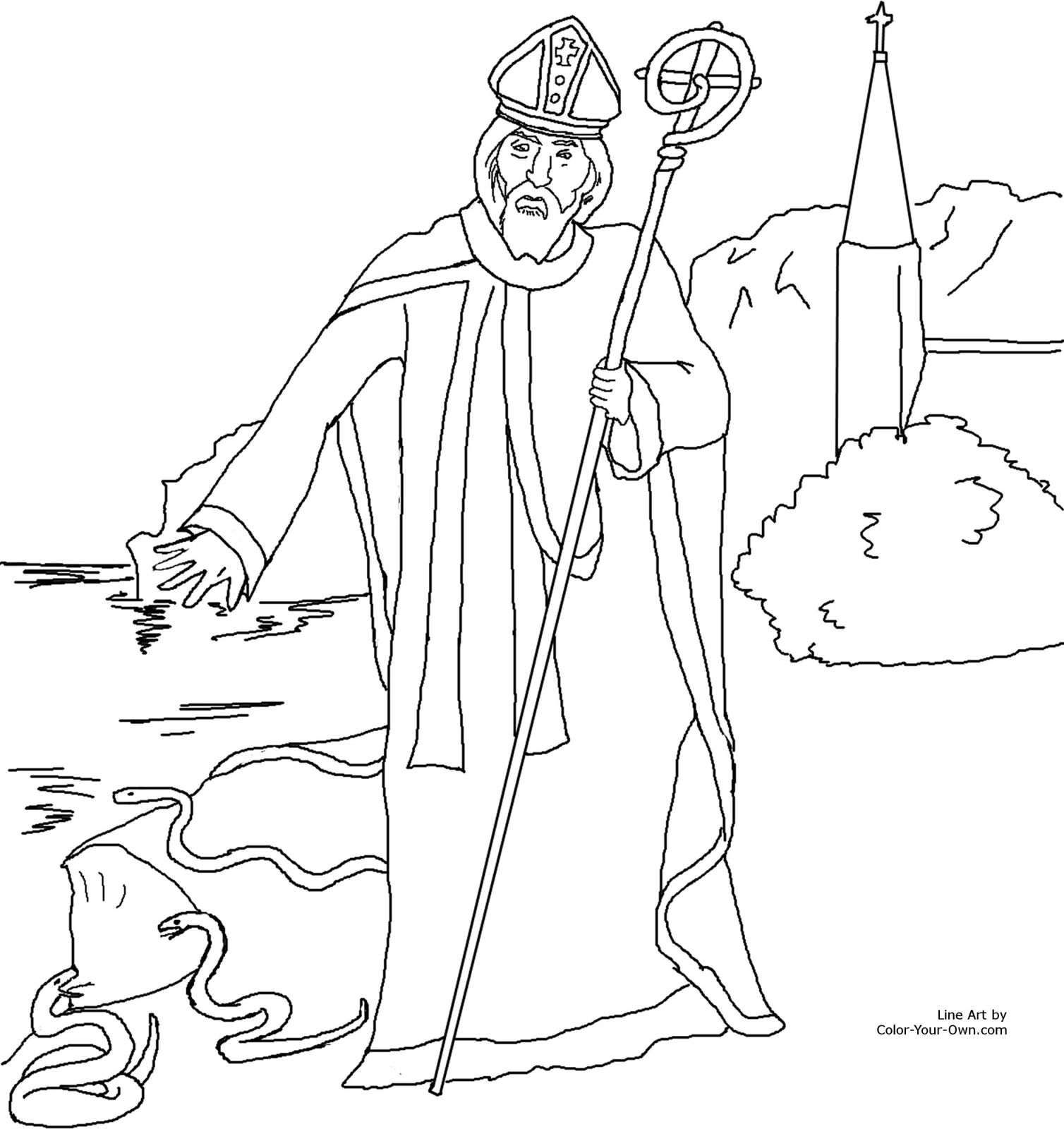 Vie coloriages de st patrick le blog de jackie for St valentine coloring pages catholic