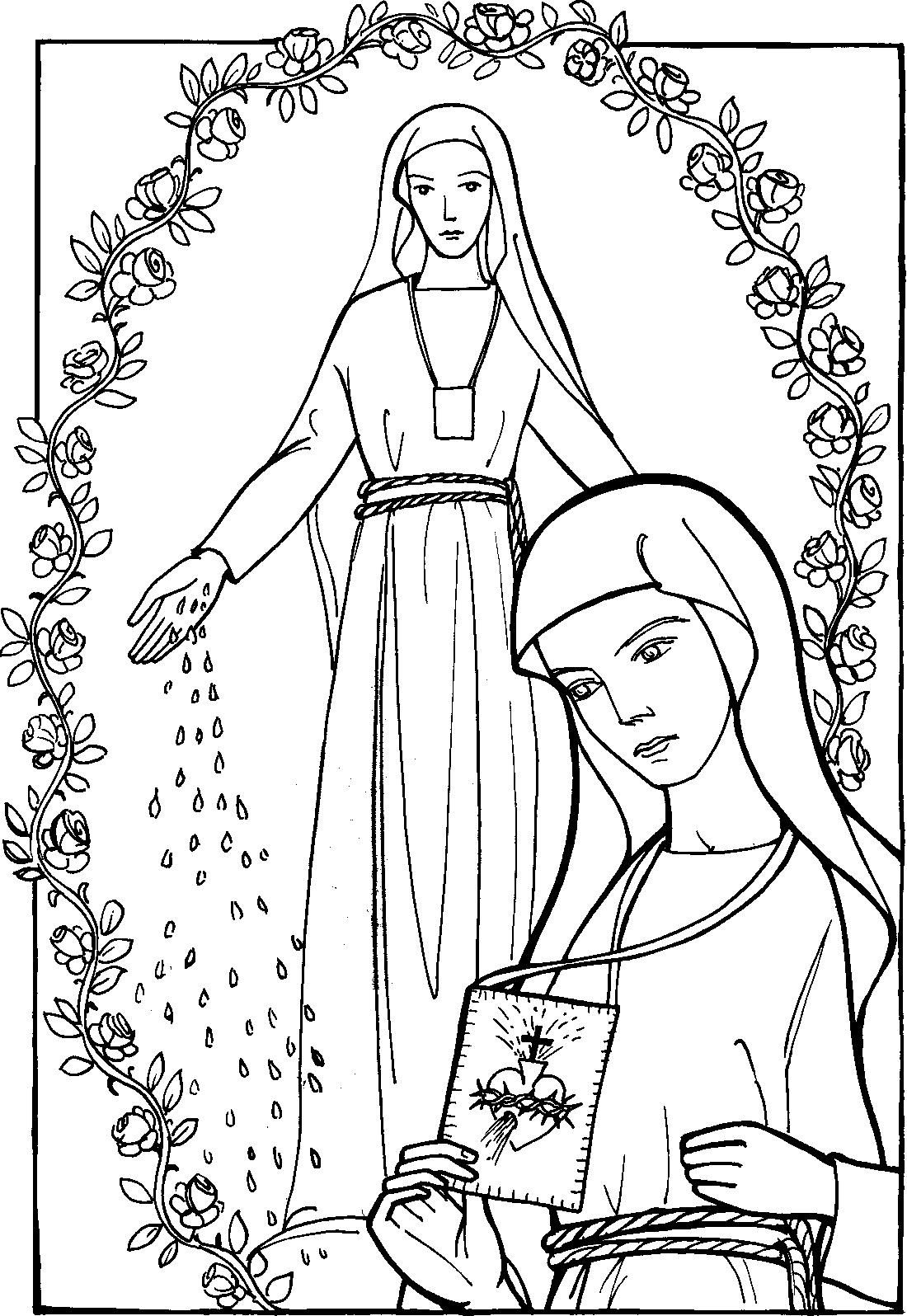 Pin coloriage marie mai on pinterest - Coloriage marie ...