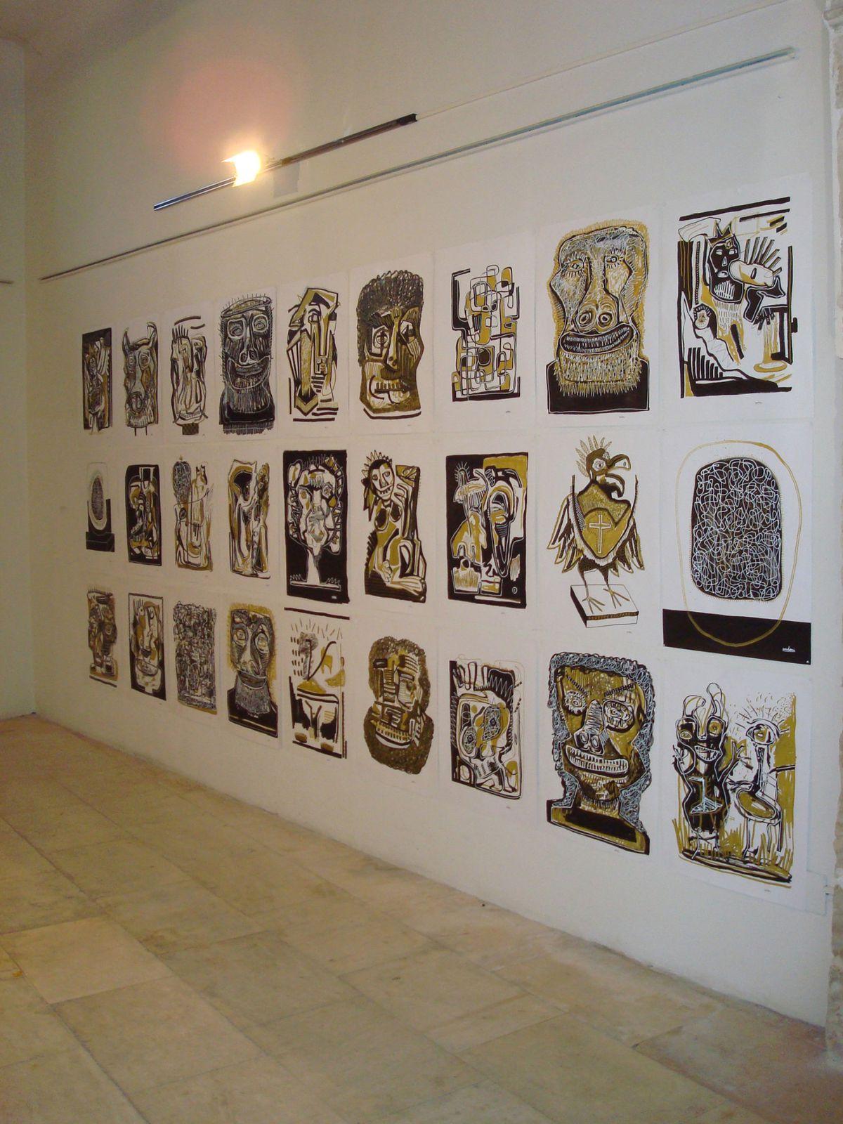 """LE COLLECTIF ESPAGNOL """"PISOPASILLO"""" a invité les artistes de POINT8 à participer au FESTIVAL EXTENDIDO, PREMIER FESTIVAL D'ART ÉMERGENT DE LA VILLE DE CUENCA.Dans l'église SANTA CRUZ ont été présentés les travaux deMary Aznar (http://mary"""