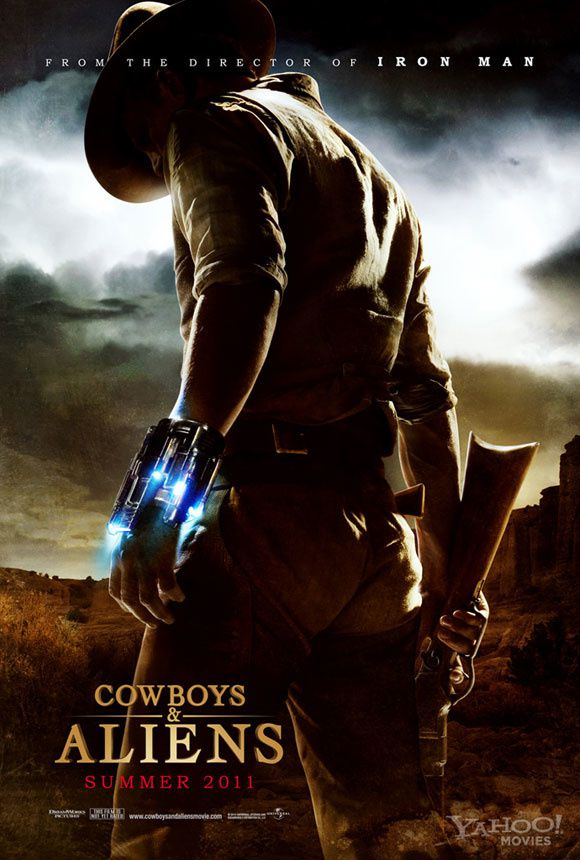 cowboys and aliens movie poster 01
