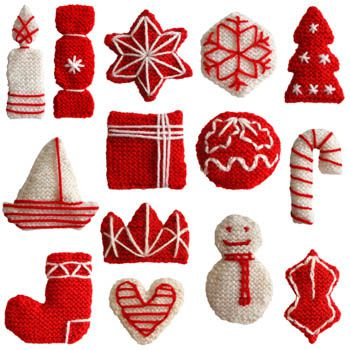 Free Knitting Patterns For Christmas Gifts : Petites decos de No?l au tricot (tuto gratuit DIY) - tutolibre