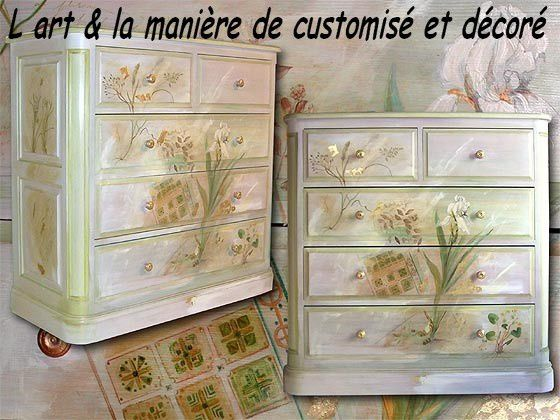 meubles peints customisation et d coration le blog de lart et la maniere. Black Bedroom Furniture Sets. Home Design Ideas