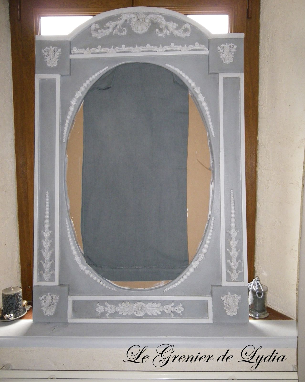 grand miroir trumeau en cours l 39 atelier relooking de meubles meubles patin s d coration. Black Bedroom Furniture Sets. Home Design Ideas
