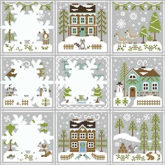 Frosty Forest Snowflake Reveal 5