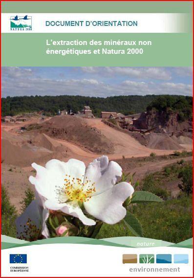 extraction des minéraux et natura 2000