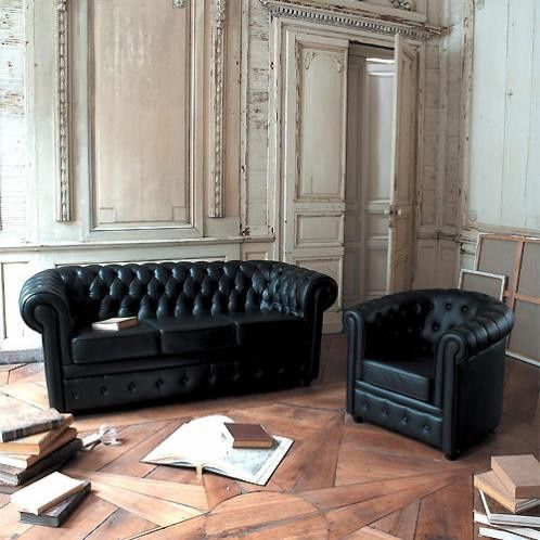 Canap je te hais le blog de la peste - Salon chesterfield cuir ...