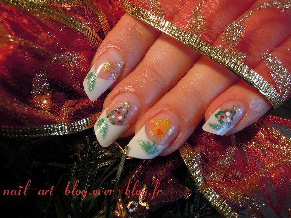 Christmas nails, paznokcie