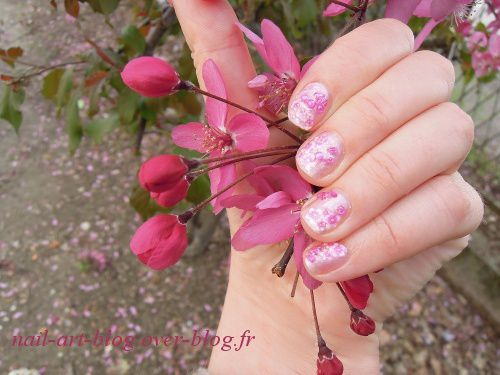ongles couleur rose 6629