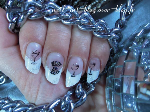 le Jour de l'An; New Year's Day Nail Art