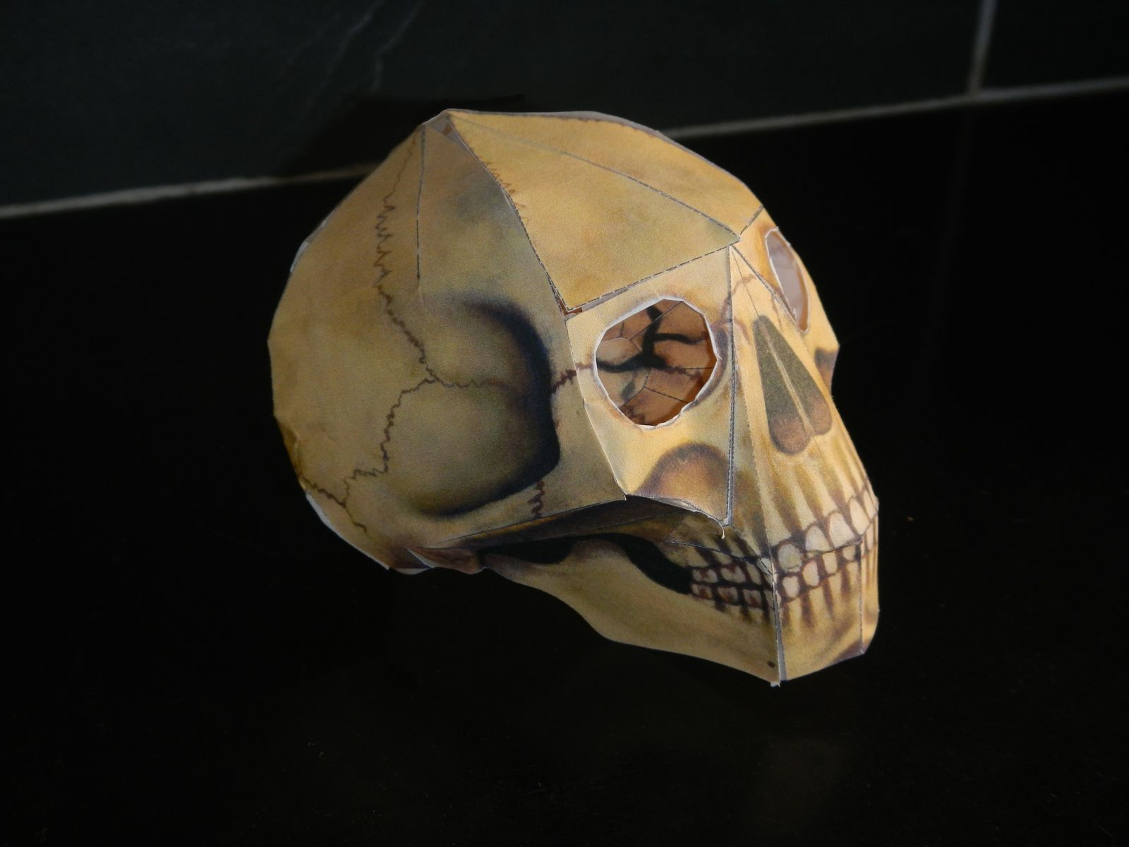 human skull origami le pot 2 colle amp cie