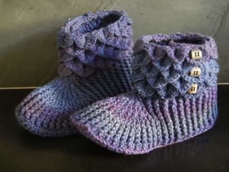 chaussons au crochet adulte
