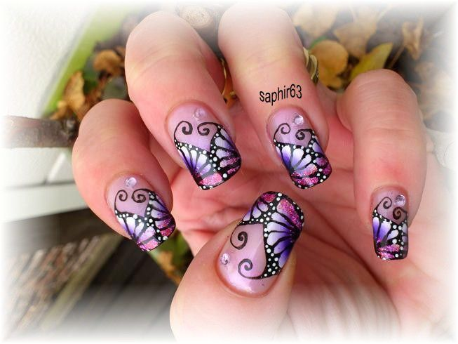 photos nail art - ailes de papillons - Le blog de saphir63 nail art