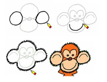 J 39 apprends dessiner un singe le blog de la classe cm1 - Singe a dessiner ...