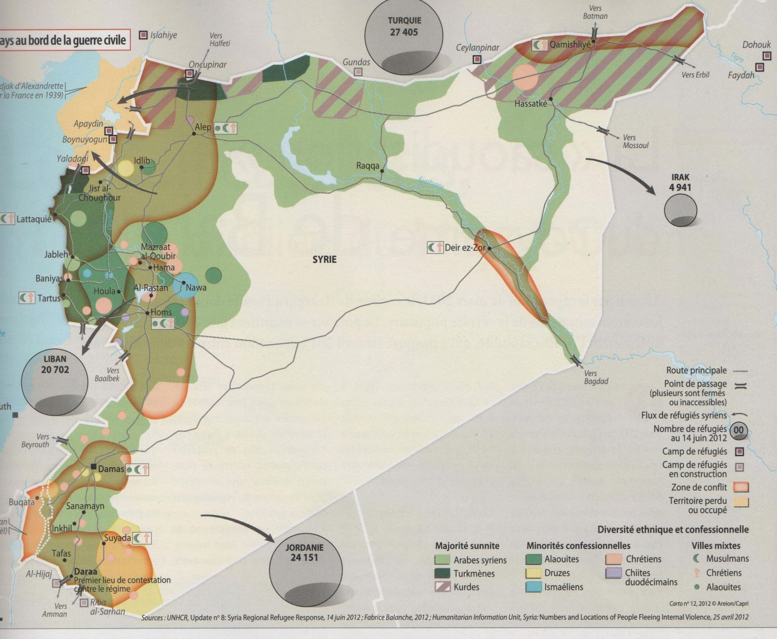 Syrie - Carto 12 - juillet 2012