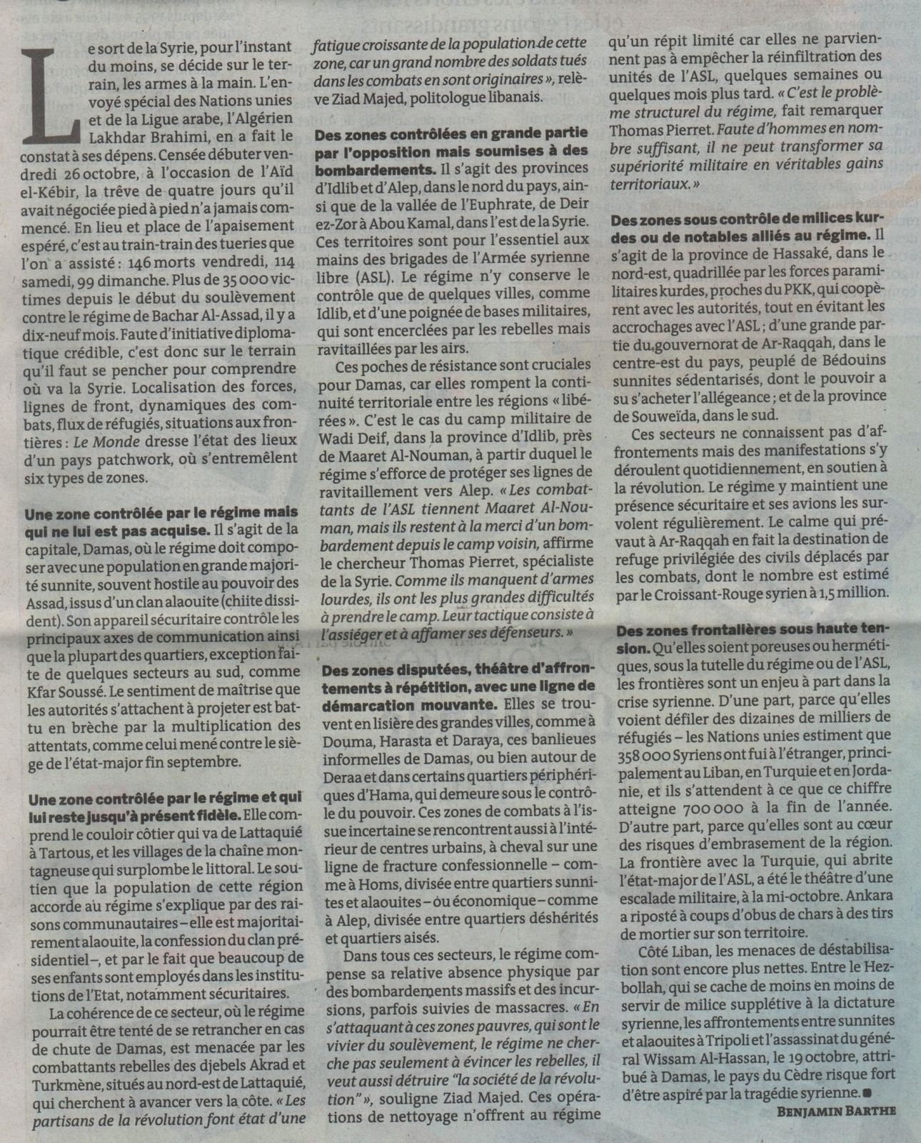 syrie 2 - le monde 31.oct 2012