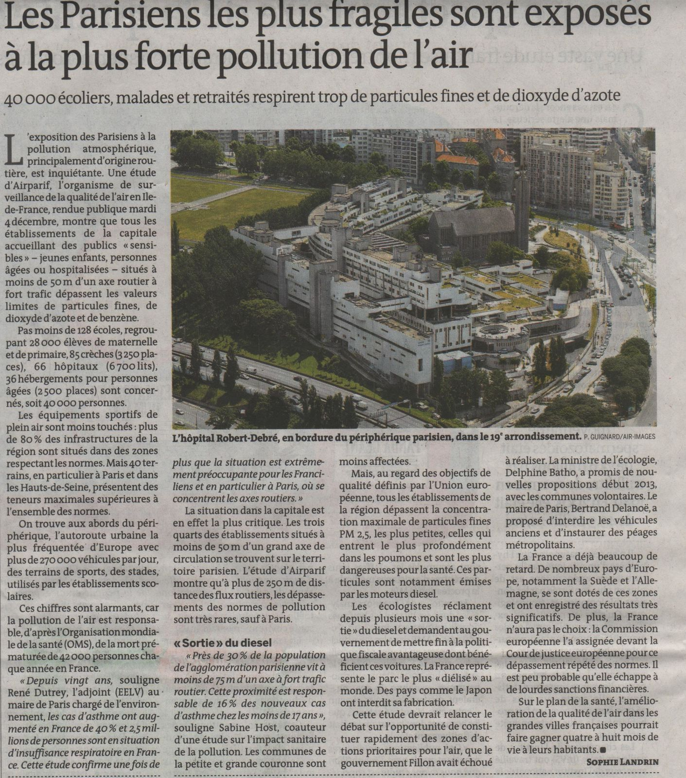Paris Pollution air 1 - Le monde - 6-12-2012