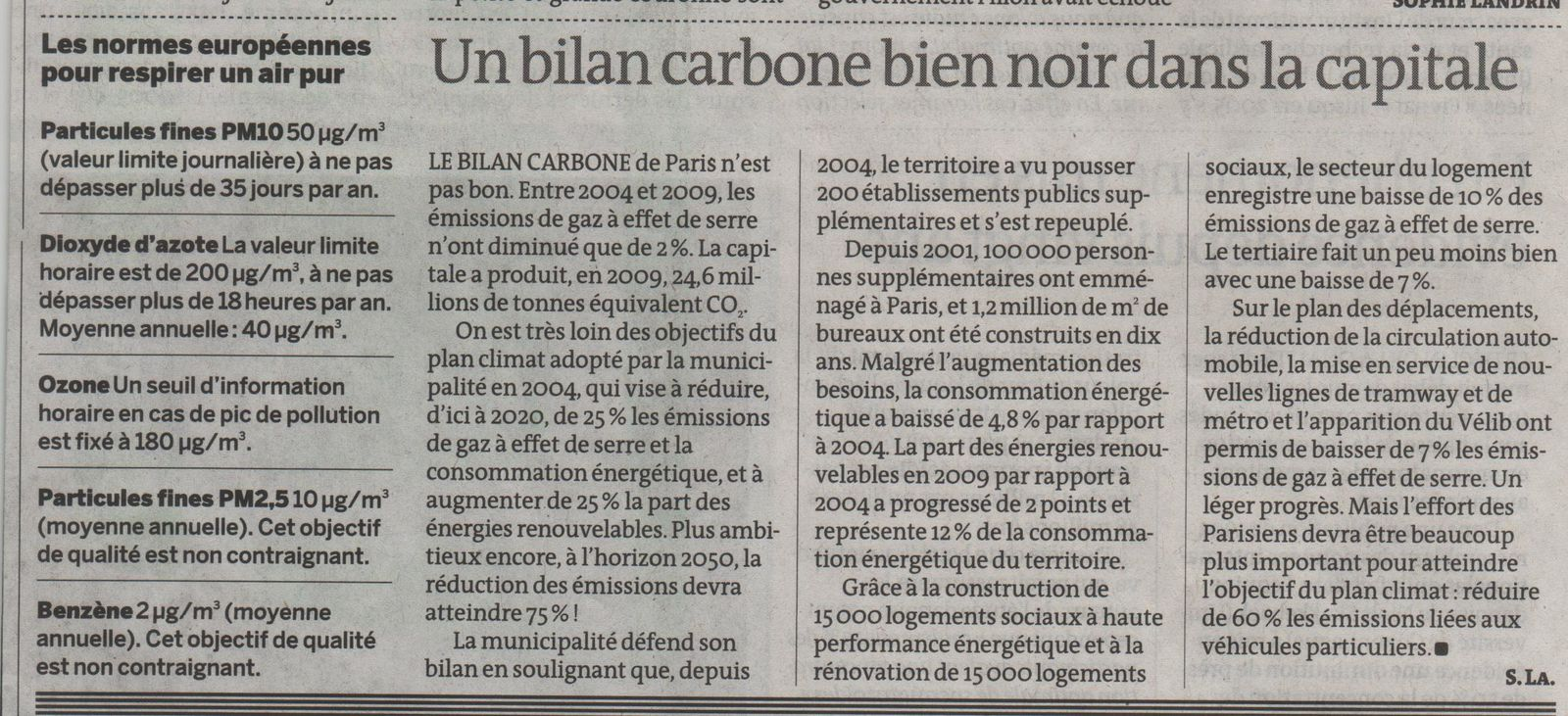 Paris Pollution air 2 - Le monde - 6-12-2012