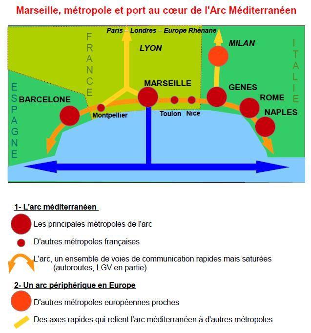 Marseille, métropole et port au cœur de l'Arc Méditerran