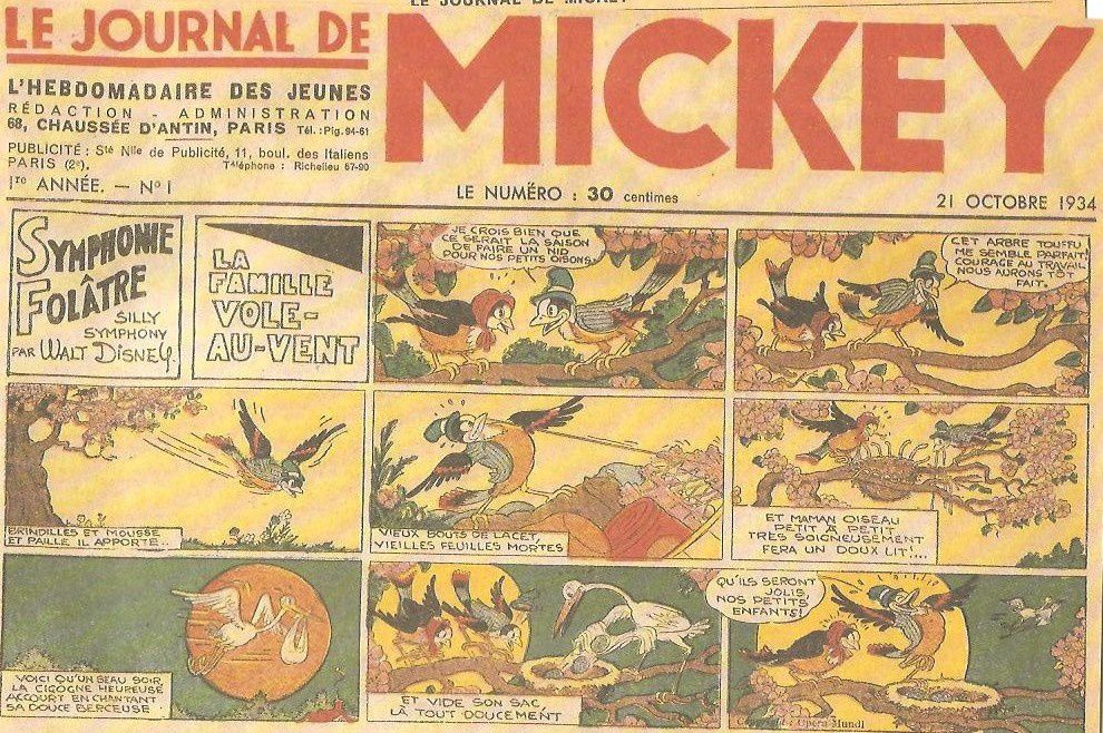 le journal de mickey numero 1 de 1934 le blog de m bd. Black Bedroom Furniture Sets. Home Design Ideas