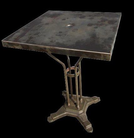 TABLE BISTROT METAL CARREE-3DN