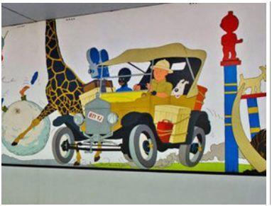 tintin voiture girafe