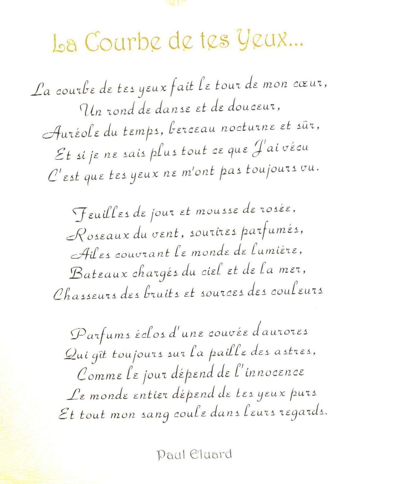 Télécharger La Courbe De Tes Yeux Paul Eluard 3ème Français