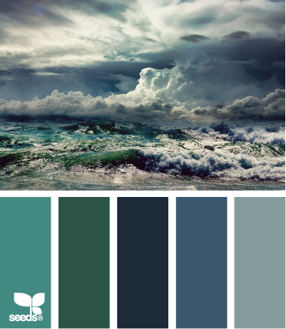 Design seeds une vraie explosion de couleurs for Ocean blue color combinations